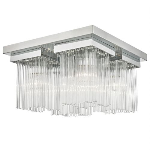 Odette 4 Light Flush Polished Chrome/ Clear